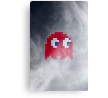 Pac-Man Red Ghost Canvas Print