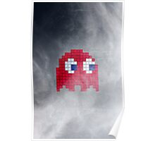 Pac-Man Red Ghost Poster