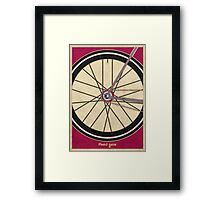 Single Speed Bicycle Framed Print