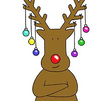 Reindeer with Baubles. by KateTaylor