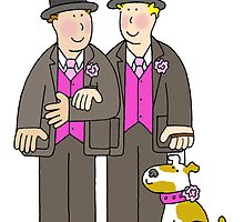 Two grooms and a dog. by KateTaylor
