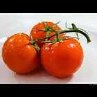 Solanum Lycopersicum - Fresh Red Ripe Tomatoes  by © Sophie W. Smith