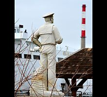 Historic Sailor Statue Harbor View - Port Jefferson, New York  by © Sophie W. Smith