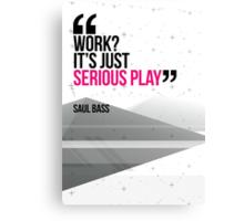Creative Quote Design 002 Saul Bass Canvas Print