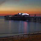 SUNSET AT BLACKPOOL by andysax