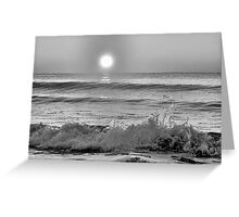 We Danced Like A Wave On The Ocean B&W Greeting Card