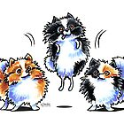Love to Parti Pomeranians by offleashart