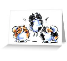 Love to Parti Pomeranians Greeting Card