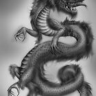 Chinese Dragon - Black and Grey by ZakkiMasquerade