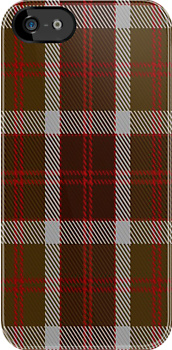 00398 Bannockbane Brown Tartan Fabric Print Iphone Case by Detnecs2013