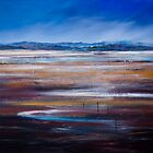 LOW TIDE - LOOKING OVER THE SALT PANS TOWARDS MOREY'S PROPERTY, TASMANIA by Thomas Andersen