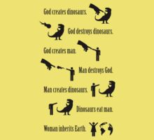 God Creates Dinosaurs (Jurassic Park quote) by jezkemp