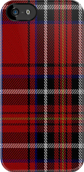 00418 Cornish Brewery Red Tartan Fabric Print Iphone Case by Detnecs2013