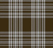 00422 Menzies Brown & White Tartan Fabric Print Iphone Case by Detnecs2013