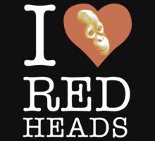 I heart (love) redheads by The Orangutan Project