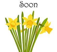 Get Well Soon / Daffodils by AllJDesigns