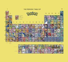 The Periodic Table Of Pokemon Kids Clothes