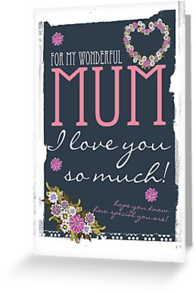 Mother's Day Card For Mum Trendy Design by Moonlake