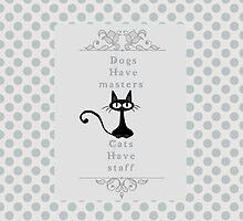 Black Cat  Retro for ipad by kjherstin