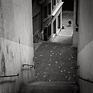 Stairs - Zurich, Switzerland by Michal Tokarczuk