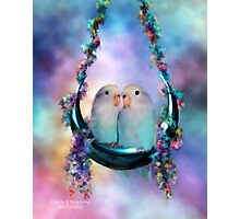 Love On A Moon Swing Photographic Print