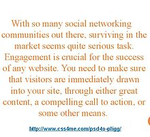 5. Pligg to avail Engaging Social Networking Community. by nels201