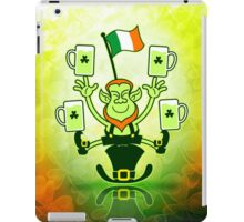 Leprechaun Juggling Beers and Irish Flag iPad Case/Skin