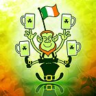 Leprechaun Juggling Beers and Irish Flag by Zoo-co