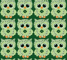 Lucky St. Patrick's Day owl by sweetsisters