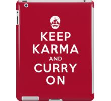 Keep Karma And Curry On iPad Case/Skin