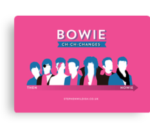 Bowie ch-ch-changes Canvas Print