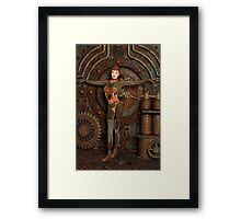 Steampunk Camouflage Framed Print