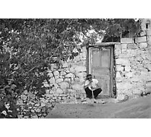 Blind Man and His House Photographic Print