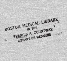 Label Boston Medical Library by Vana Shipton