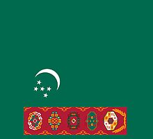 Turkmenistan Flag by pjwuebker