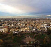 Edinburgh Castle Viewpoint.  Princes Street Gardens.   by LBMcNicoll
