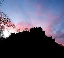 Sunrise over Edinburgh Castle.  by LBMcNicoll