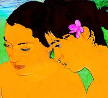 Hawaian Girls a la Gauguin by Eva Kato