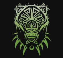 Fierce Tribal Bear T-Shirt Design (Green) by chief9928