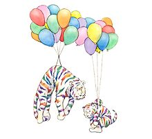 Rainbow Tigers and Balloons by Tim Gorichanaz