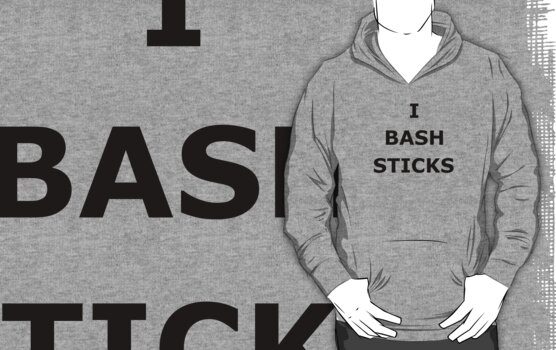 I Bash Sticks (in black) by Eirys