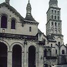 South porch and east end of Perigueux Cathedral 198402260023 by Fred Mitchell