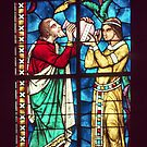 Eliezere & Rebecca stained glass Perigueux Cathedral 198402260029 by Fred Mitchell
