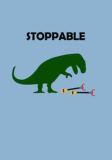 Stoppable T-Rex by jezkemp