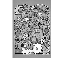 Doodleicious - Black and White Photographic Print