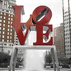Red Love Park Sign Philadelphia Street Photography by RedCoatStudio