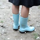 Teal Rain Boots Art Photography by RedCoatStudio