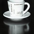 Mocha Coffee Cup Fine Art Black and White Photography by RedCoatStudio