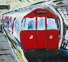 London Underground 'Going To Work' - Fine Art by RedCoatStudio