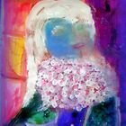 AnOther_OReilly_ORiginal_Painting_ Reflections of Half Pint with tiny ted n white roses bouquet) by Timothy C O'Reilly